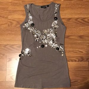 Forever 21 bejeweled tank top